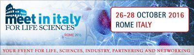Meet in Italy for Life Sciences 2016, iniziativa internazionale per la vita le scienze e le imprese