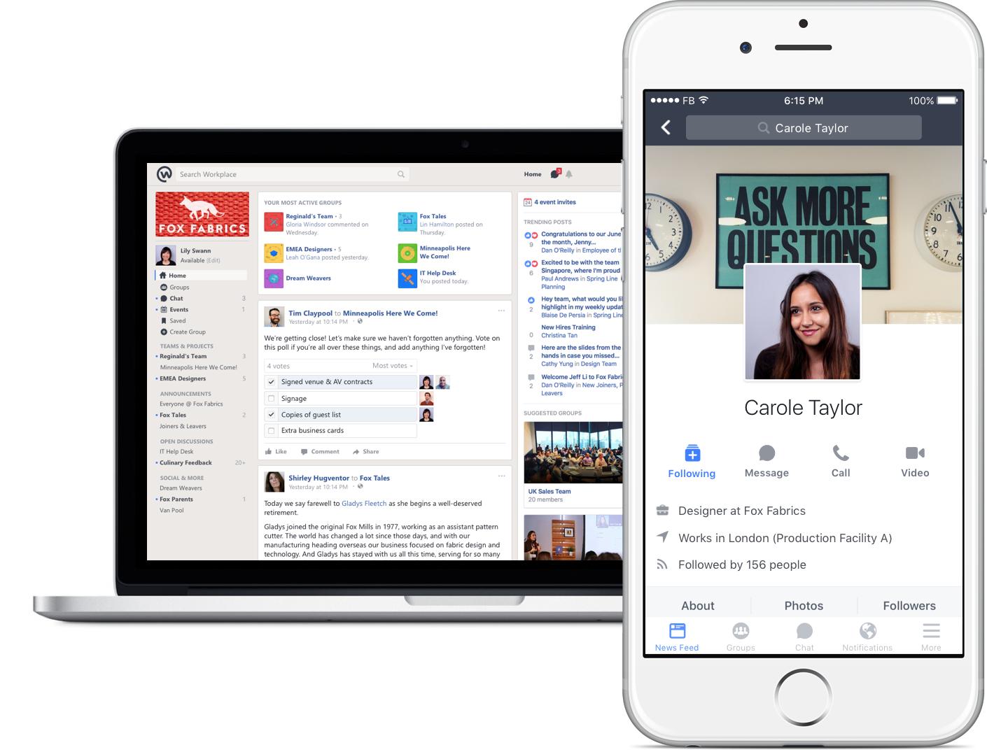 Facebook lancia Workplace in Italia